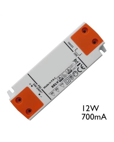 Driver LED de corriente constante 12W 700 mA para conexión de LEDs en serie