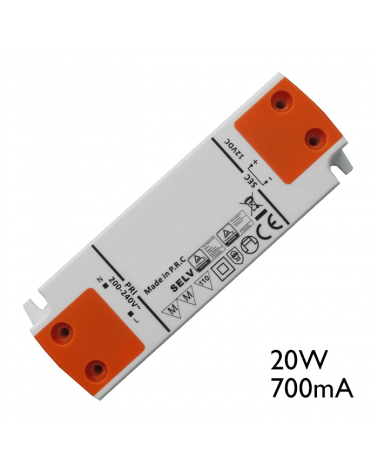 Driver LED 20W 700mA para conectar leds en serie