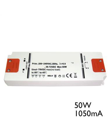 Driver LED 50W 1050mA para conectar leds en serie