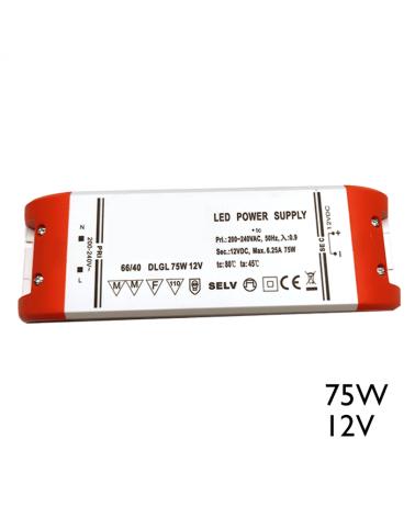 Driver LED 75W 12V para conexión de leds en paralelo