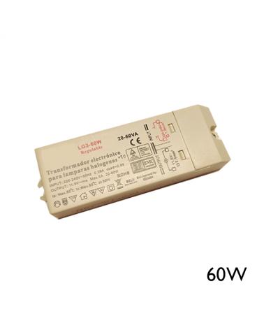 Transformador regulable 60W para lámparas de baja tensión