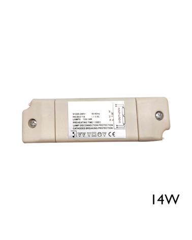 Balasto electrónico 14W