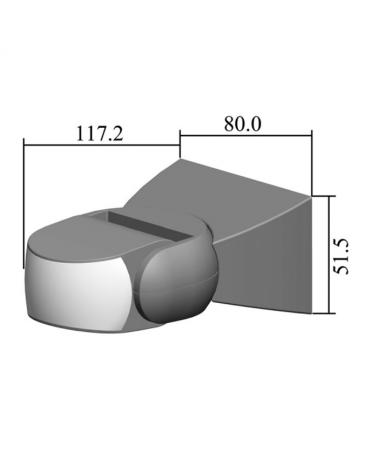 Sensor de presencia empotrable por infrarrojos IP65 apto para exteriores 220-240V