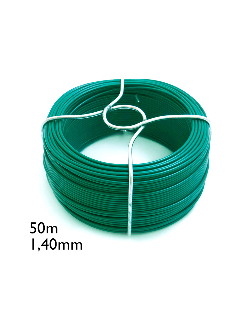 Alambre forrado verde nº 6 - 1,40mmx50mts
