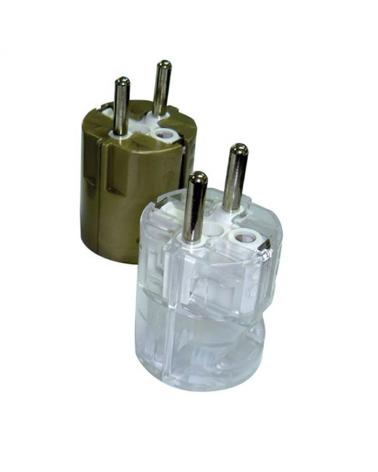 Clavija schuko corriente nominal de 10 a 16A y tensión de 250V