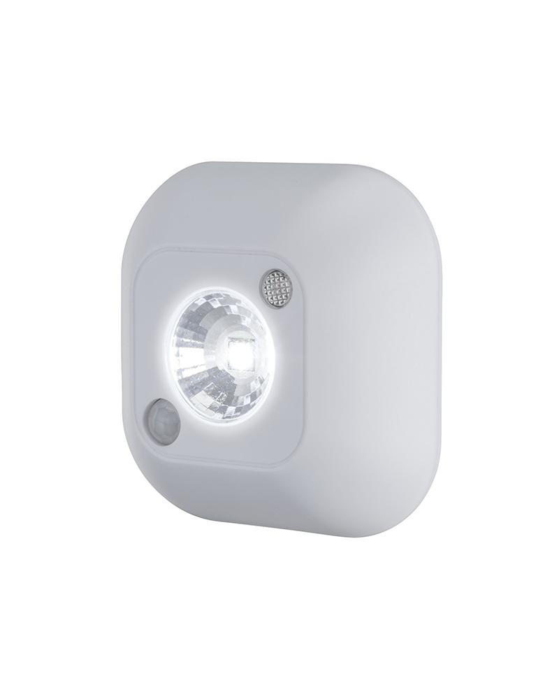 Linterna LED 0,45W 25Lm y autoadhesivo con detector de movimiento con pilas
