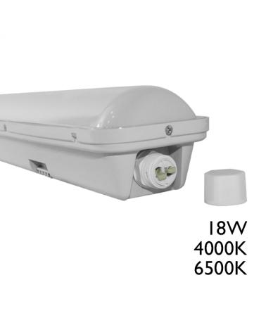 Luminaria estanca LED 18W 600mm IP65 de superficie