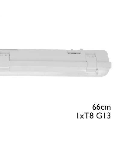 Regleta estanca ECO LED IP65 1x600mm para 1 tubo led G13 T8