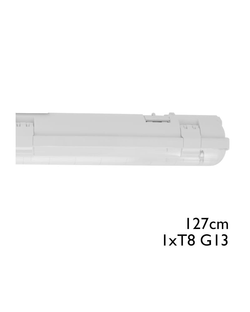 Regleta estanca ECO LED IP65 1x1200mm para 1 tubo led G13 T8