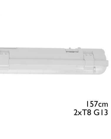 Regleta estanca ECO LED IP65 2x1500mm para 2 tubos led G13 T8