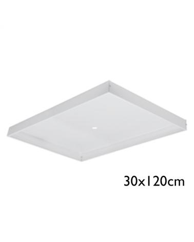 Cajón para superficie para panel 120x30cms
