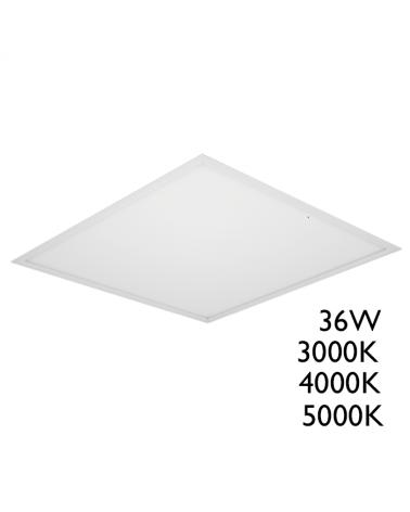 Panel LED de empotrar 36W 60x60cm 830 cuerpo de acero +50.000h. IP40