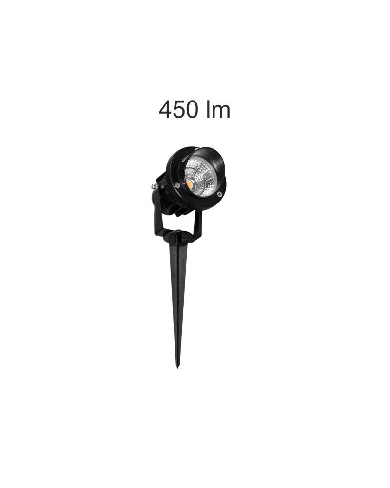 Garden skewer Aluminum 100-240V IP65 LED 5W 45º 3000K 450 Lm.