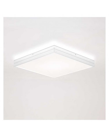 Plafón diseño cuadrado 42cm LED 29W 2700K 2580Lm regulable