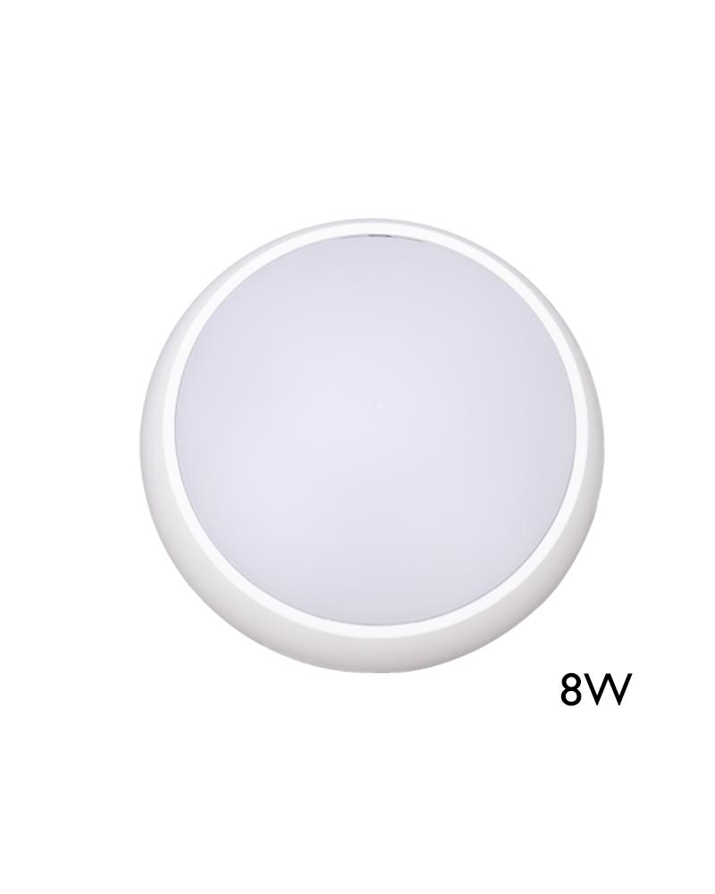 Aplique y plafón de exteriores blanco 8W IP54 120º para pared o techo