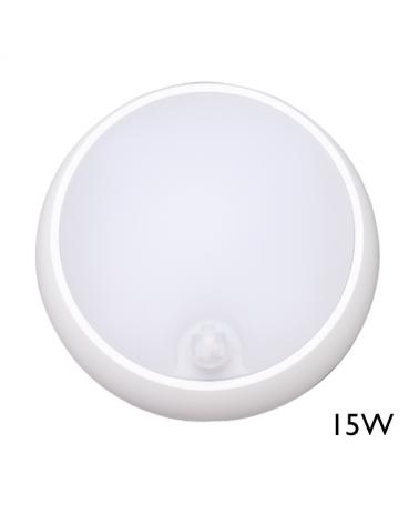 Aplique y plafón de exteriores con sensor de movimiento 15W IP54 120º para pared o techo