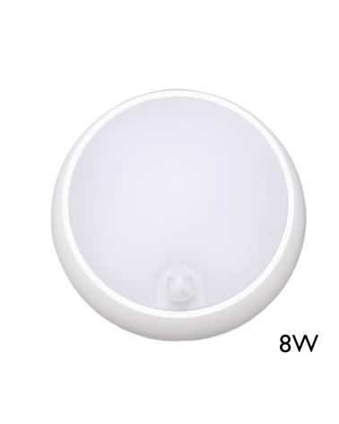 Aplique y plafón de exteriores con sensor de moviento 8W IP54 120º para pared o techo