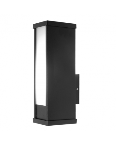 Aplique de exteriores de bajo consumo 26W color negro IP44 PL-D