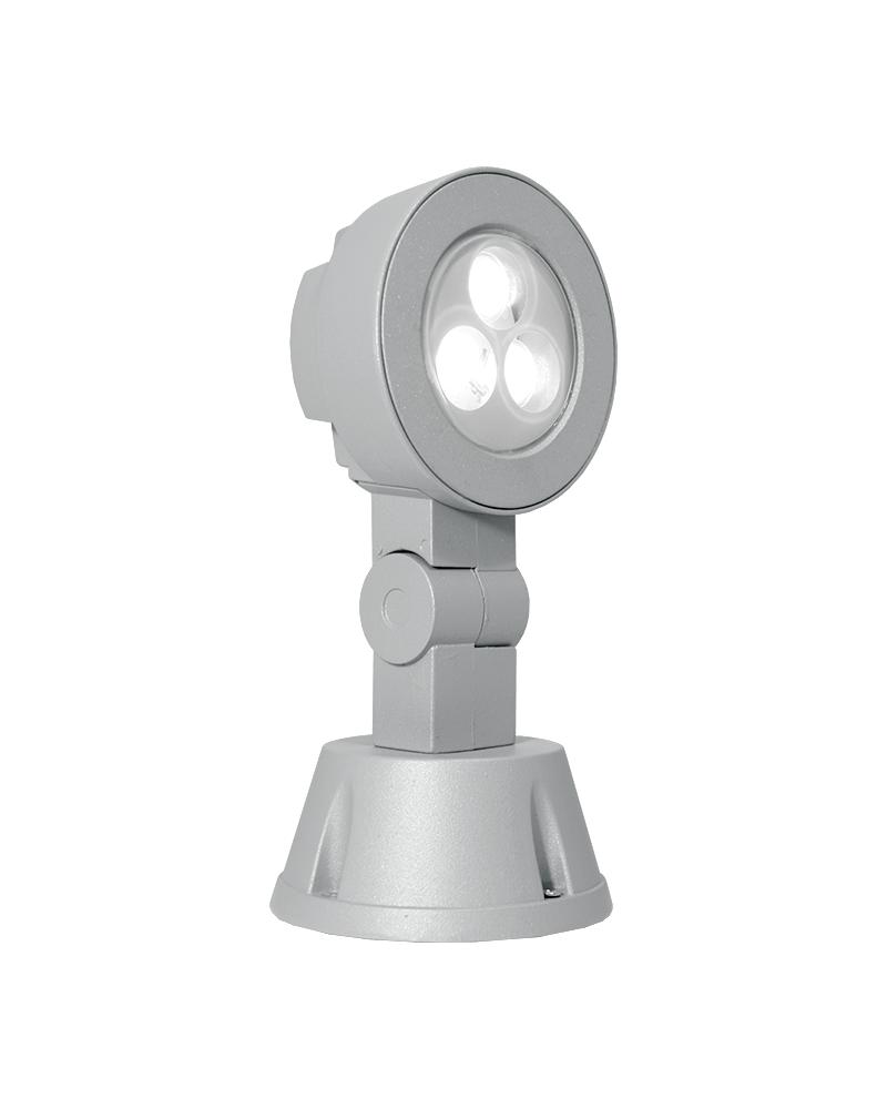 Proyector de exterior LED 3x1W abatible color gris IP65