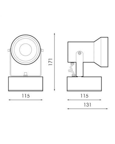 Foco LED 10W 4000ºK apto para exteriores con accesorio de pincho, lámpara led incorporada