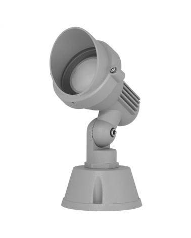 Foco de exteriores orientable GU10 IP54 gris aluminio