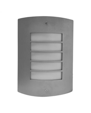 Aplique de exteriores aluminio curvado con difusor opal 60W IP44