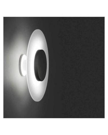 Plafón/Aplique diseño cristal blanco doble concéntrico centro negro LED 9,6 W  2700K 893Lm