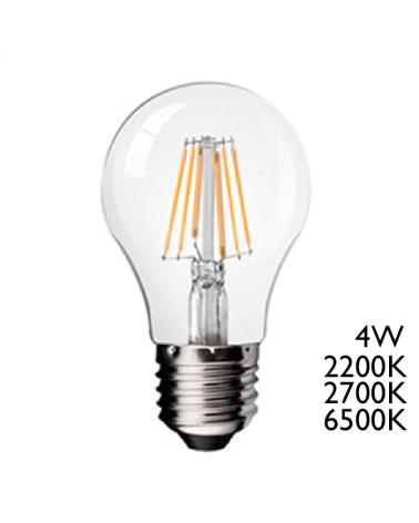 Bombilla Vintage Claro 60 mm. Standard  filamentos LED E27 4W