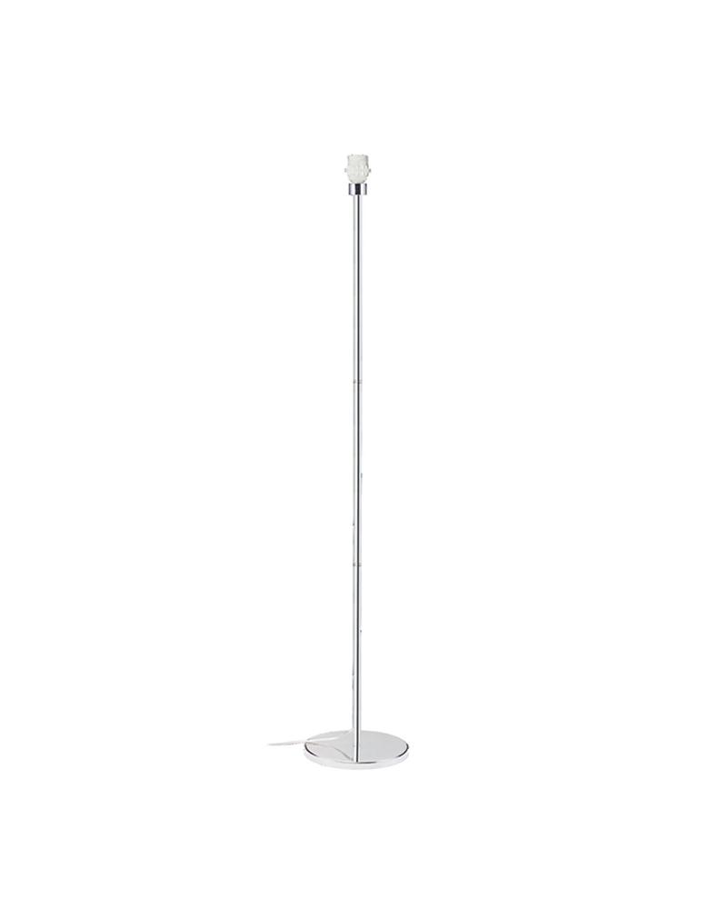 Pie de lampara 148cm cromado 11W E27 3 años garantía bombilla incluida