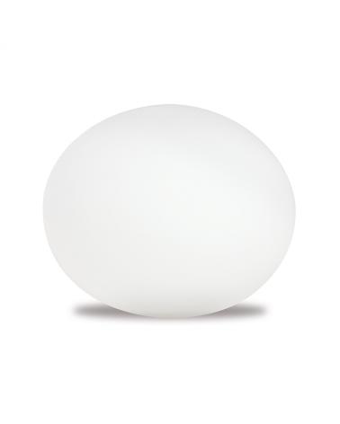 Lámpara de sobremesa forma de ovalo de cristal 2W LED multicolor.