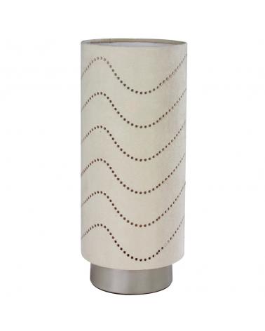 Lámpara de mesa pantalla beige control táctil 20W E14