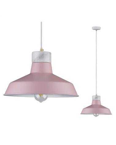 Lámpara de techo nórdica acabado rosa 1x20W E27