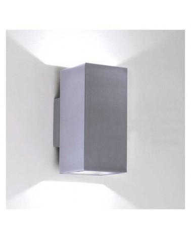 Aplique de interior 8x17,4cm cubico aluminio luz superior e inferior 2xGU10
