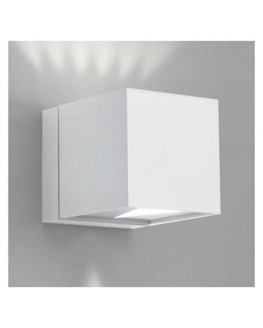 Aplique 8x8cm cubo aluminio luz superior e inferior 2xG9 regulable