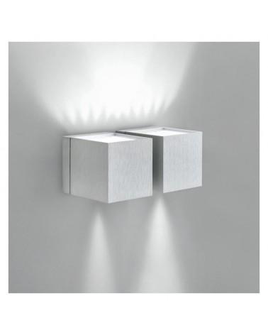 Aplique dos luces 18x8cm cubo aluminio luz superior e inferior 2xG9 regulable