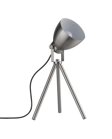 Lámpara de mesa niquel satinada con tres patas 20W E27
