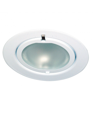Downlight empotrable para muebles metal y vidrio blanco 1x20 W 12V G4