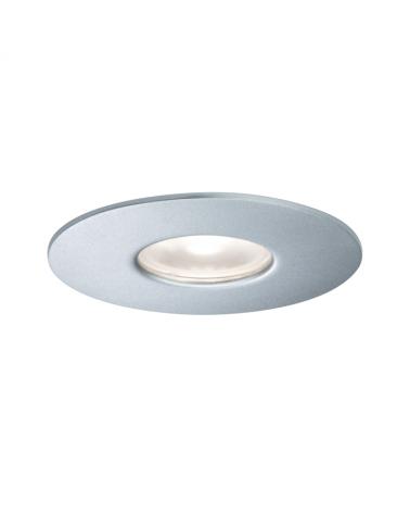 Downlight empotrable IP44 4000 K 34° 5,8 W Plata