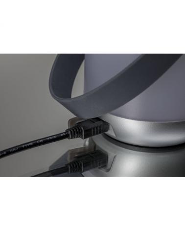 Lámpara de sobremesa portátil IP44 Cromo mate regulable con batería