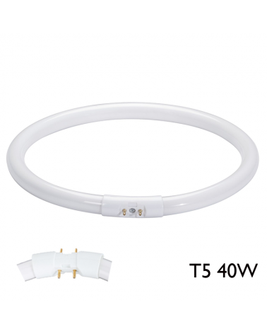 Tubo fluorescente circular T5 40W 2 GX13 Cálido extra