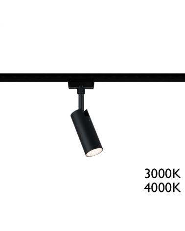 Foco para carril metal tubo negro LED Serie 142/1