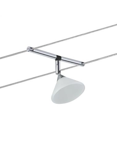 Foco de cable pantalla cristal cromado max 10 W GU4 sistema de cable