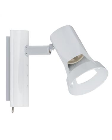 Aplique foco blanco con interruptor base cuadrada GU10 1x50W