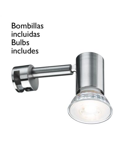Aplique espejo baño IP20 5,3W GU10 bombilla incluida