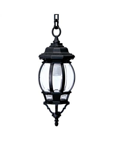 Farol lámpara colgante s IP44E27 75x21cms difusor de policarbonato biselado UV resistente policarbonato biselado