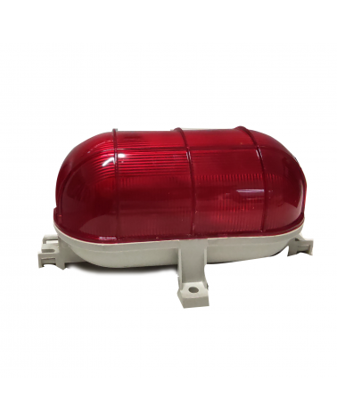 Aplique de exterior rojo plastico IP44