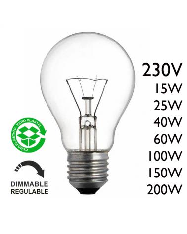 Bombilla estándar clara 230V E27 de filamento
