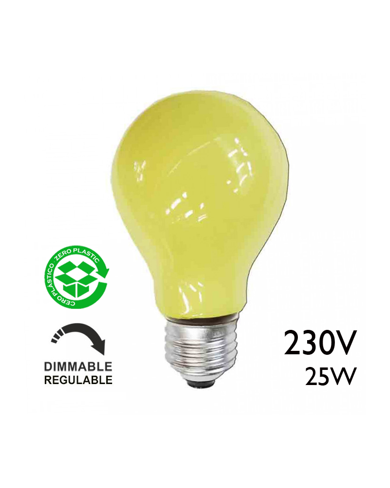 Bombilla incandescente estándar amarilla 25W E27 230V