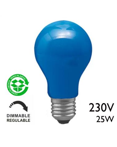 Bombilla incandescente estándar azul 25W E27 230V