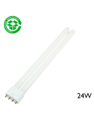 Lámpara PL-L 24W 2G11 luz blanca día 6400K